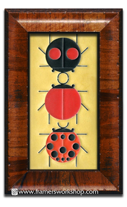 Framed Motawi Tiles: Chareley Harper Designs > Ladybug Sampler