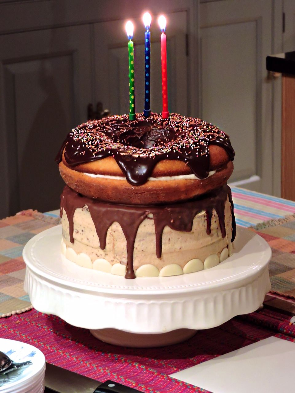 Giant Doughnut Birthday Cake Doughnuts Birthday cakes and Birthdays