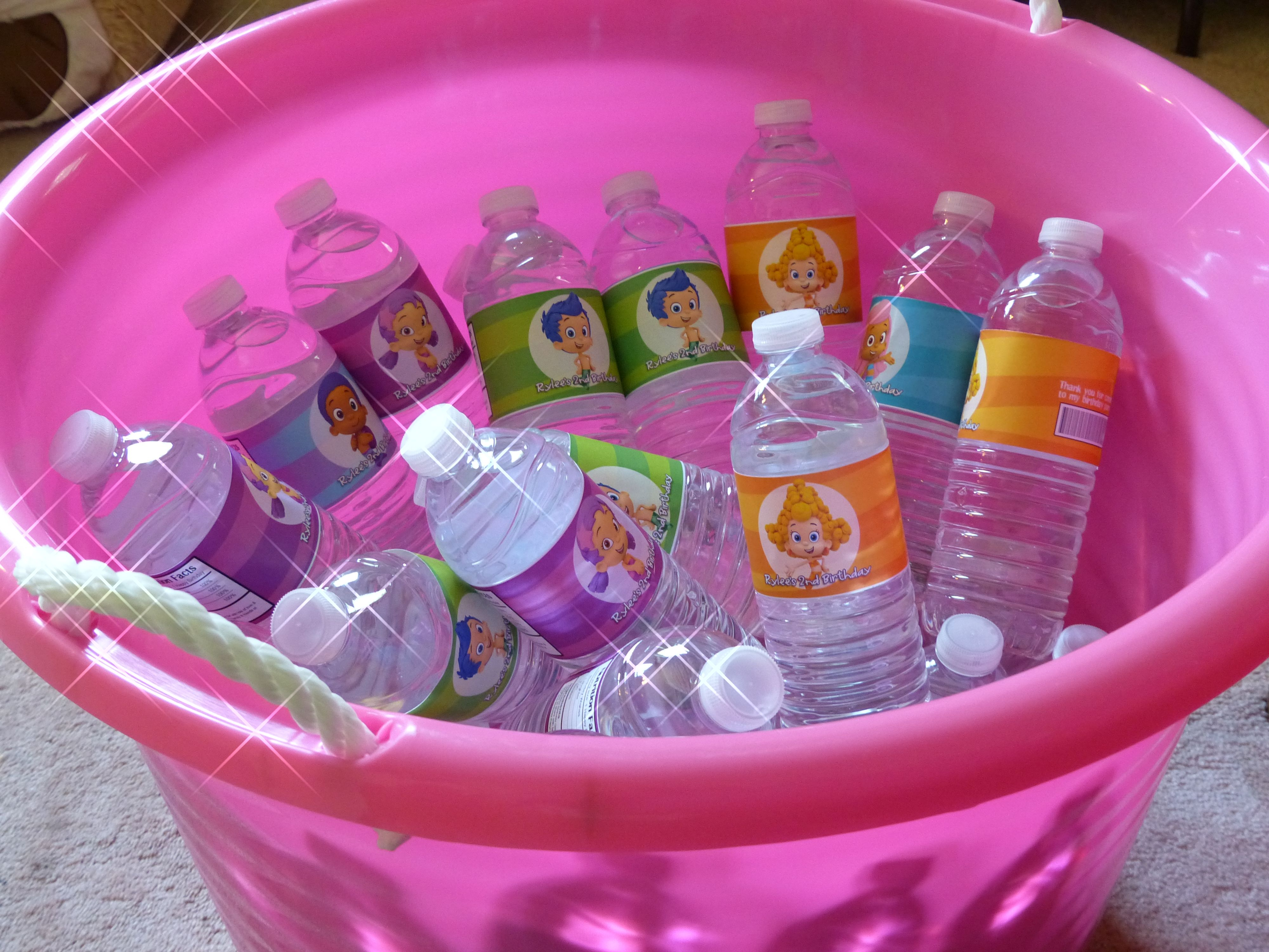 Personalized Water Bottles | Bubble Guppies Birthday Party for Rylee ...