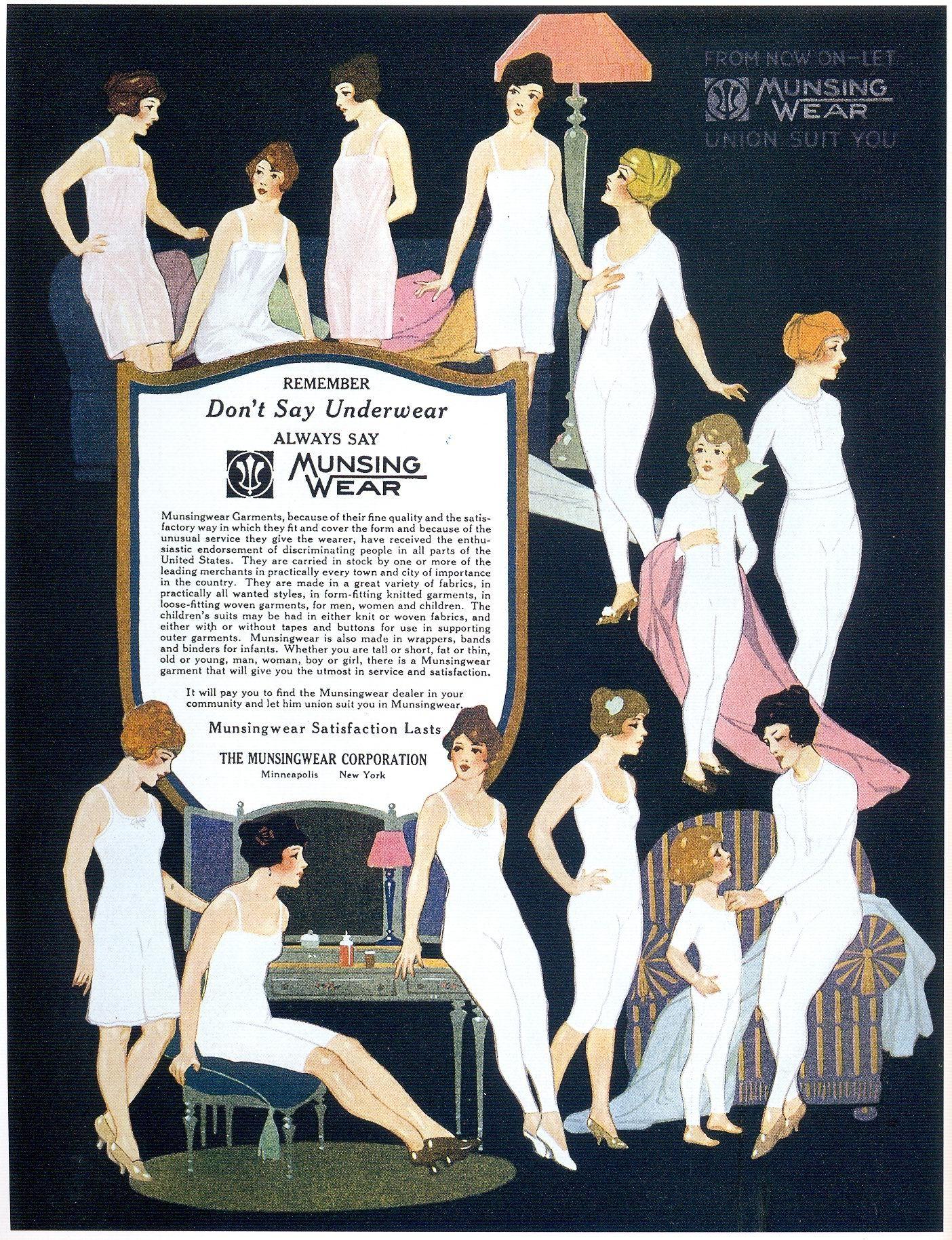 """Munsingwear Underwear, 1921 Scanned from Taschen's """"All-American Ads of the  20s""""."""