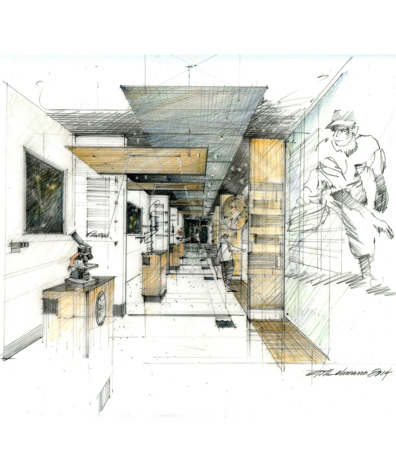 Perspectiva de interiores un punto de fuga museo for Exterior a un punto de fuga