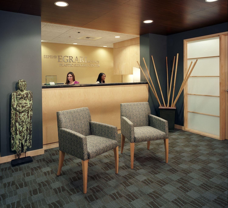 Lobby Decorating Ideas: The Egrari Clinic Lobby And Reception Area Creates A Calm