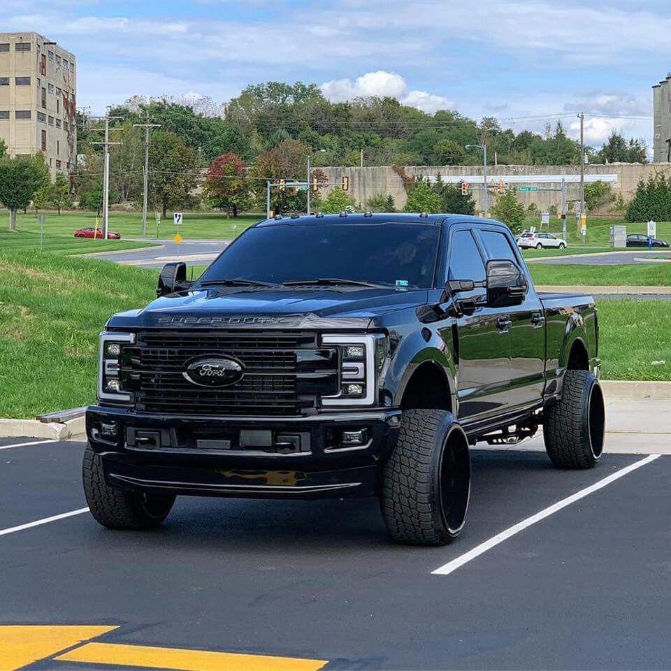 blacked     ford   super duty powerstroke diesel beautiful