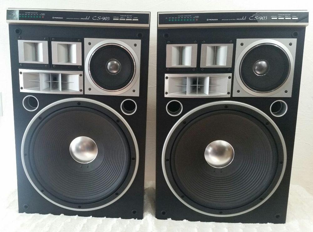 Vintage Pioneer CS903 Speakers Floor Standing Pair