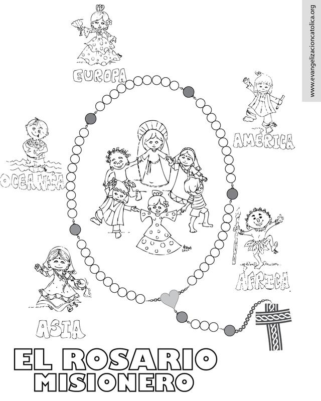 Rosariov Png 640 800 Rosario Misionero Rosario Para Ninos Catequesis