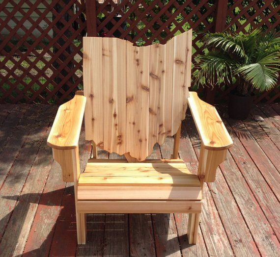Ohio Adirondack Chair Handmade Wood Furniture Rustic Cedar Patio Unfinis