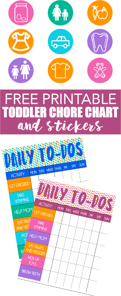 This Free Printable Chore Chart For Toddlers Is Perfect And Comes