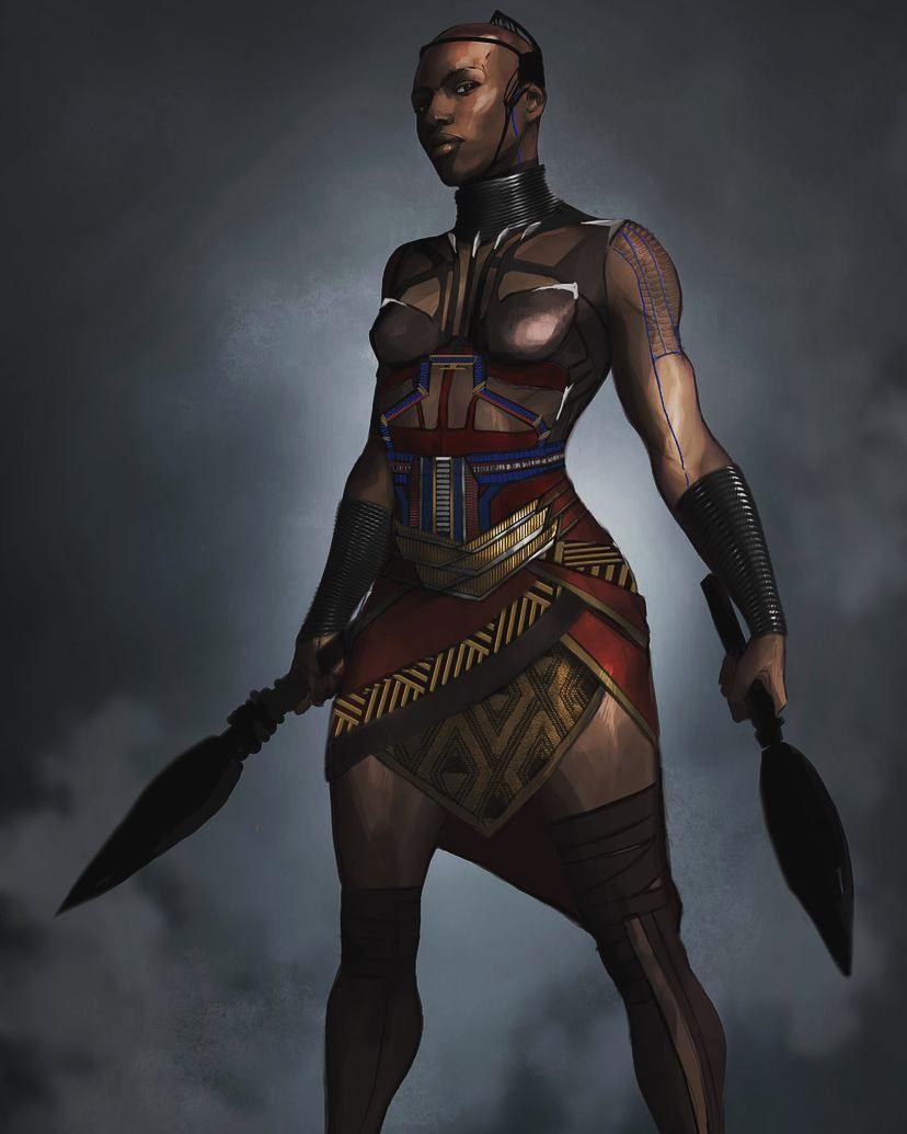 Image result for concept art black panther warrior