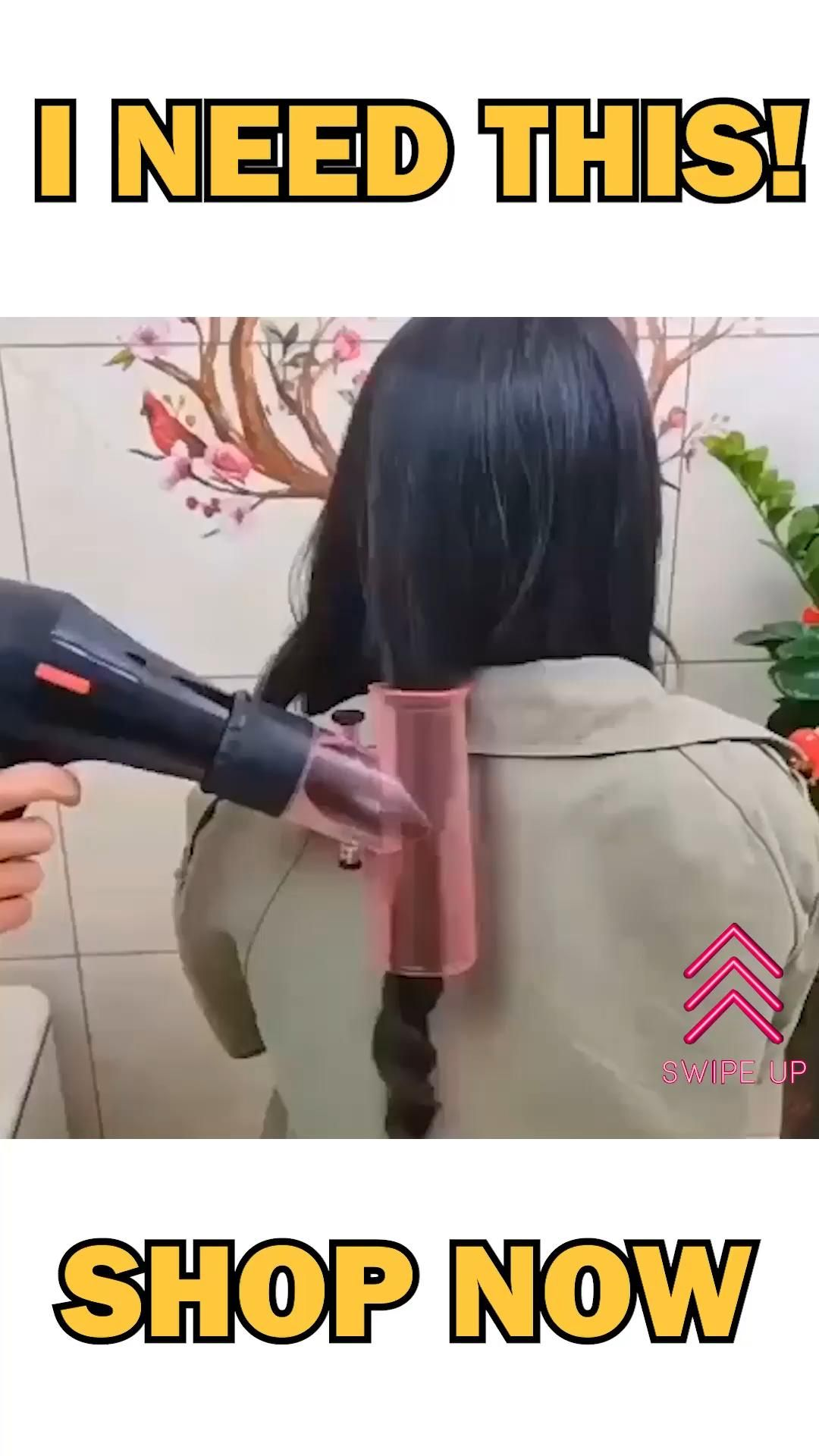 Hair Dryer Spin Roller Curls Diffuser