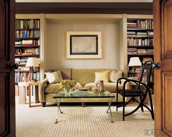 Love Bookshelves Around Sofa Formal Living Room Ideas