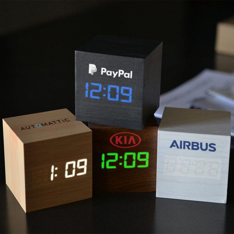 Modern led triangle clock