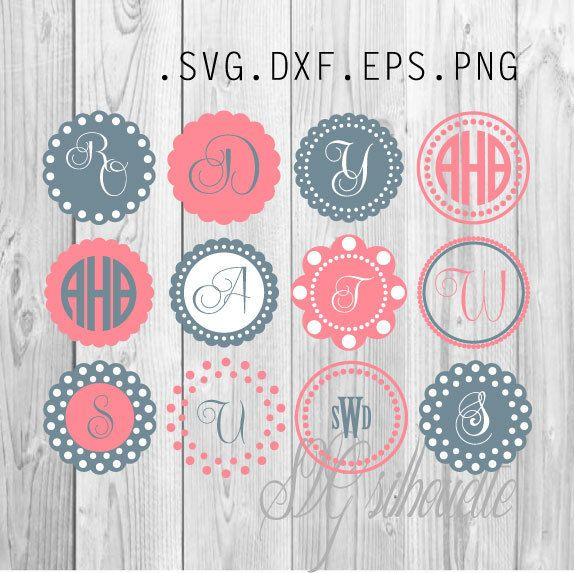 11+ Mason Jar Monogram Designs – Aztec Pattern – Svg, Dxf, Eps – Cutting Files Image