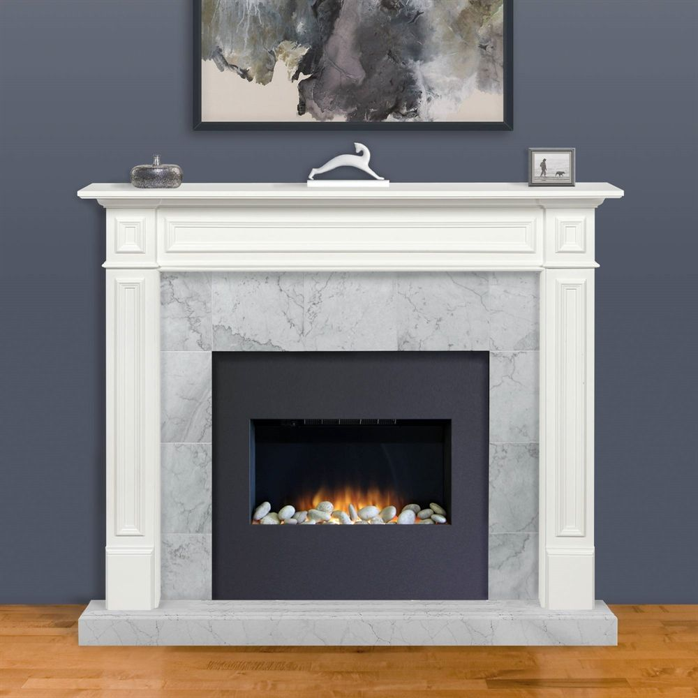 Pearl Mantels Mike Mantel Shelf 64 In Mdf White Fireplace