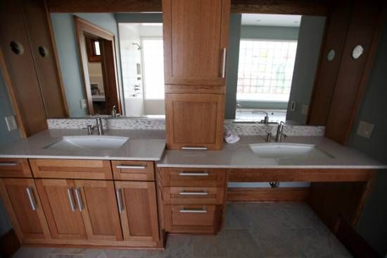 ADA bathroom vanity design / Universal Design bathroom.