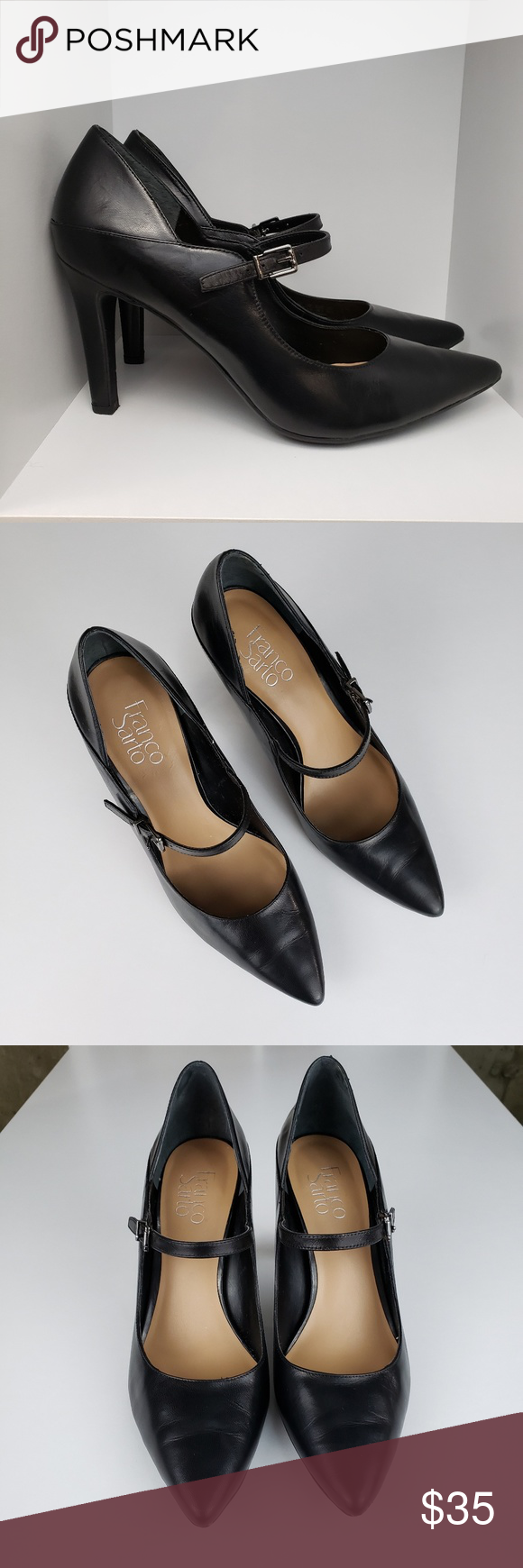 119ceb907e6 Franco Sarto Anthem Leather High Heel Size 8.5 This classic pump is perfect  for work or