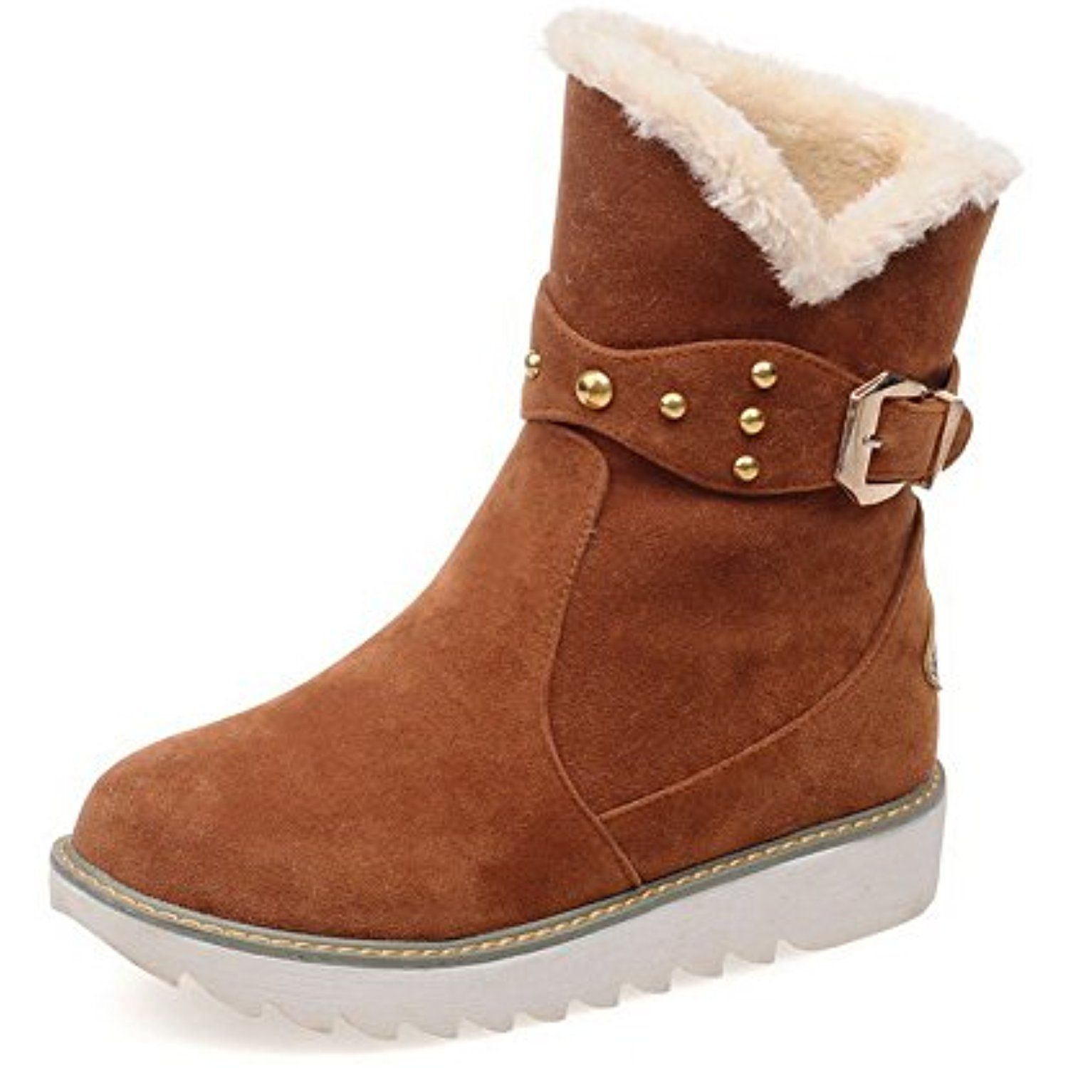 Shoes For Women Low Heel Round Toe Closed Toe Boots Outdoor