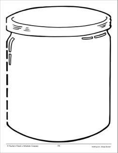 Empty Jar Shape Book Page Empty Jar Shape Books Shapes