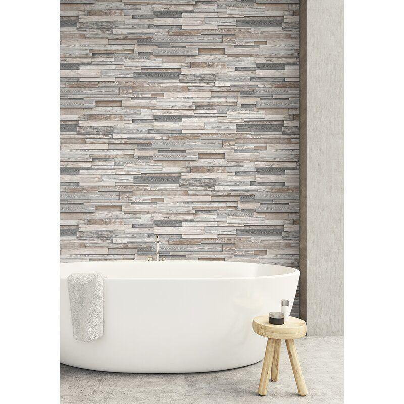 Florencia 18 L X 20 5 W Peel And Stick Wallpaper Roll Peel And Stick Wallpaper Wood Wallpaper Peel And Stick Wood