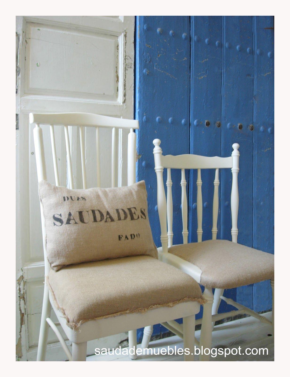 Saudade Tapizar Con Tela De Saco Con Tela De Saco Pinterest  # Muebles Tapizados En Tela