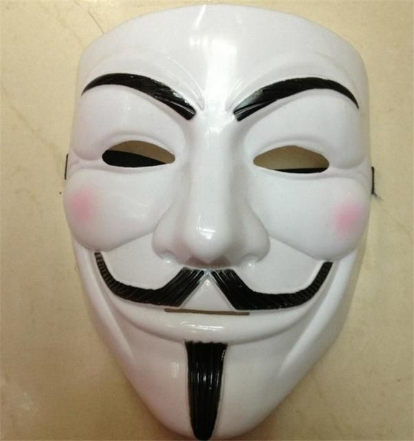 Vendetta Mask Anonymous Guy Fawkes Masks Fancy Dress Adult Costume Accessory Party Cosplay Carnival Masks