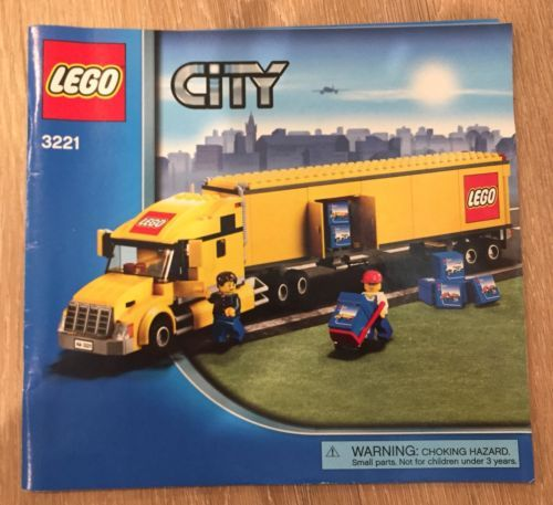 Lego City 3221 Lego Truck 100 Complete Set W Instructions