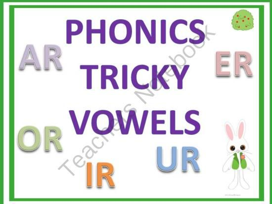 Phonic Tricky Vowels - This product is a collection of tricky vowels sounds. Students can practice reading, saying, spelling, tracing, and writing these printable. All of these different ways to practice will help the kids. Make extra copies of individual pages of the printable to cut in stripes and displayed in pocket charts. List of words:    ar:  cart