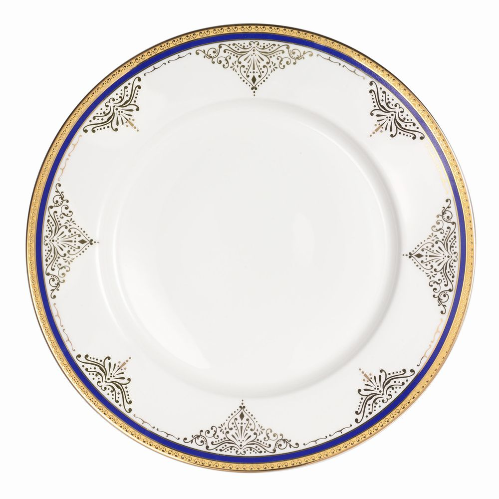 Loren Home Trends La Luna Collection 57-piece Blue/ Gold Bone China Dinnerware…