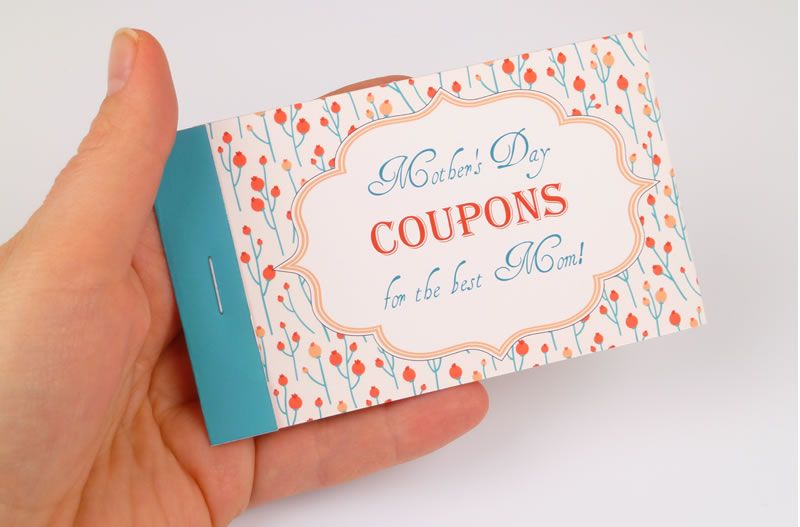 mothers day coupon booklets to personalize and print pinterest