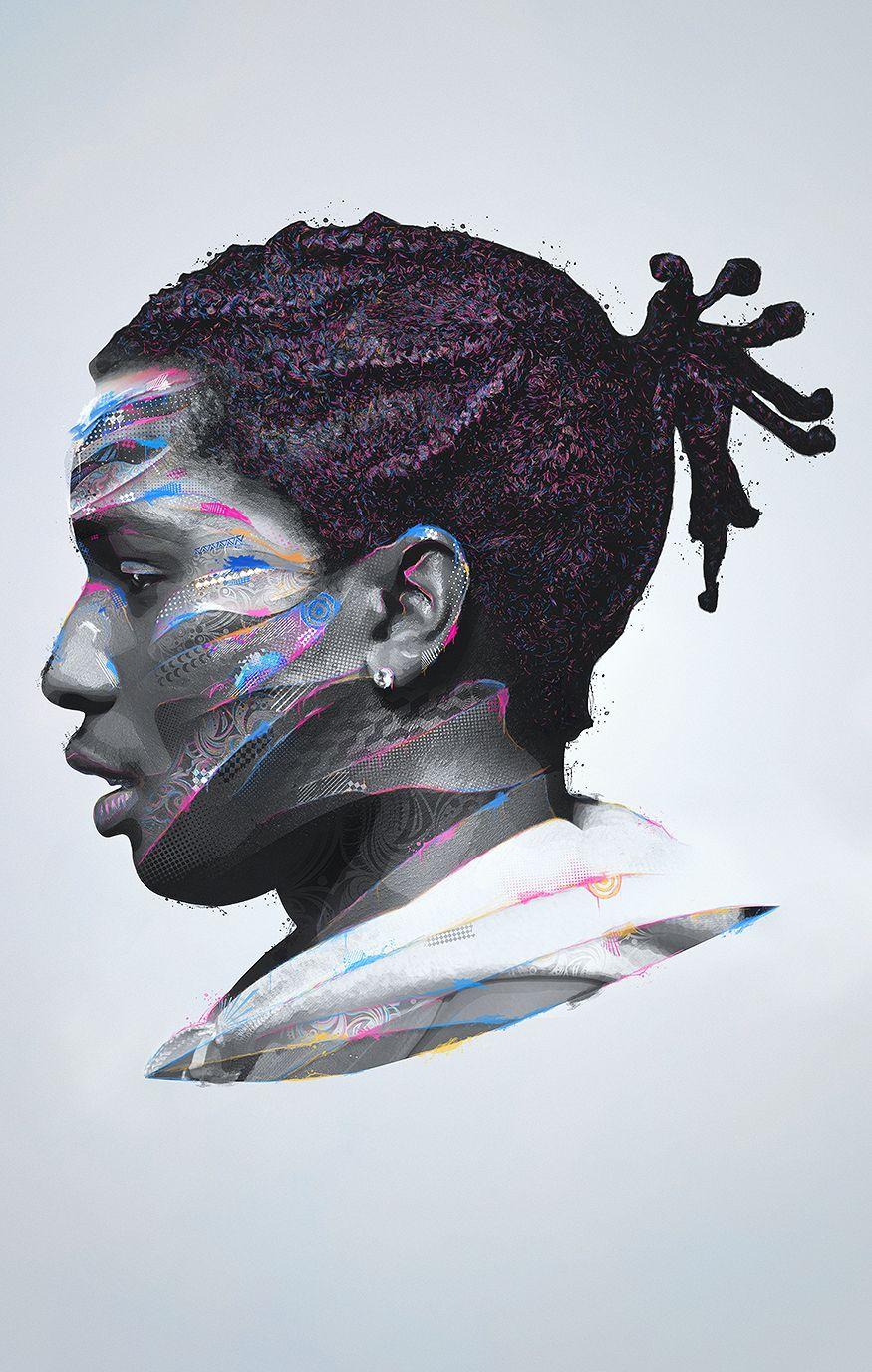 Hip Hop Abstract Vectors on Behance Rap wallpaper
