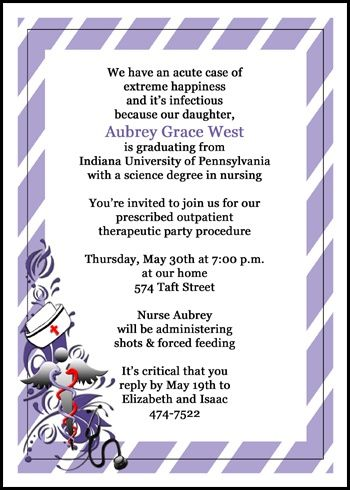 take a look at this fashionable nurse graduation party invitations