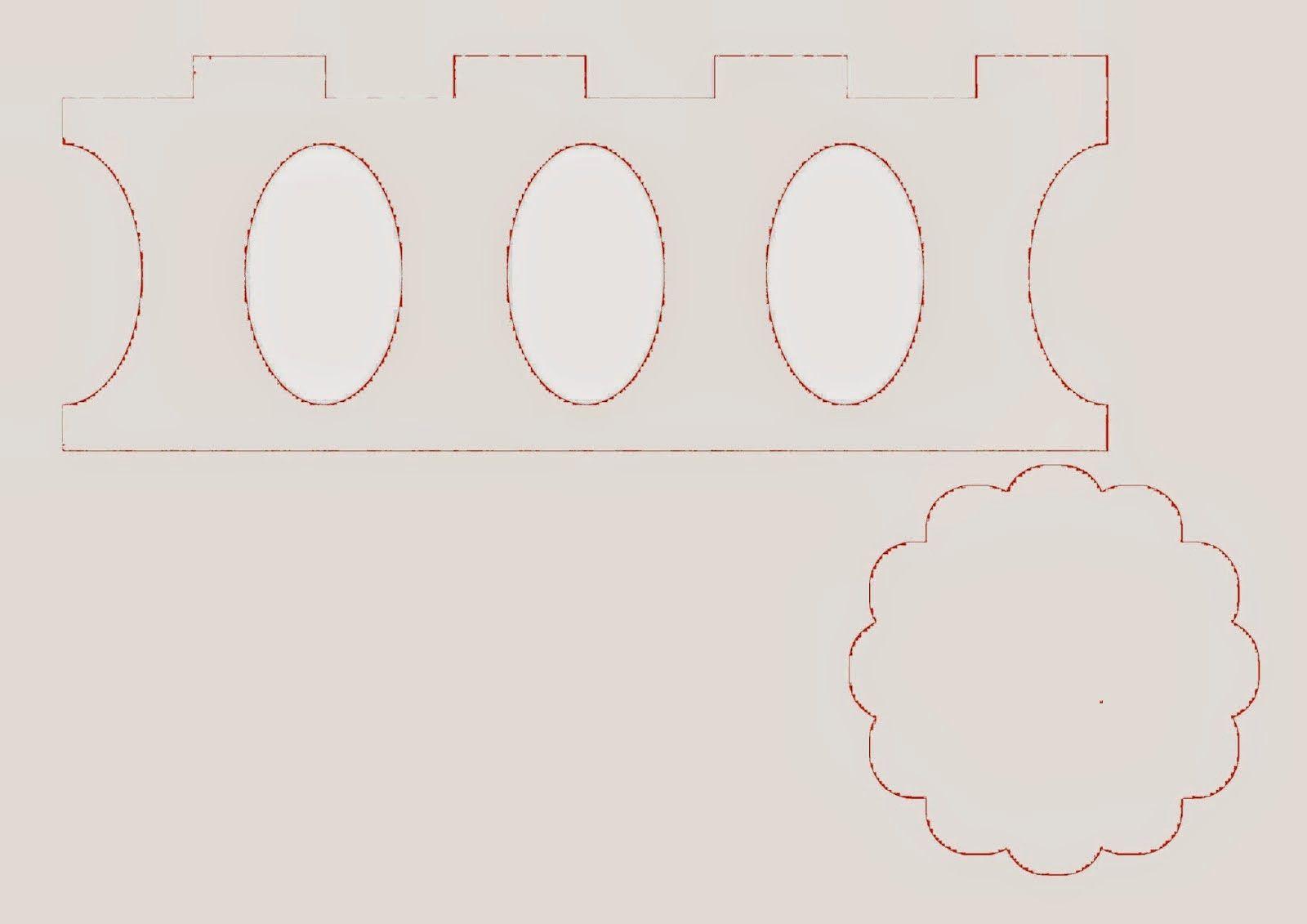 Stand para Cupcakes hecho de Cartón. Tutorial con Plantillas ...