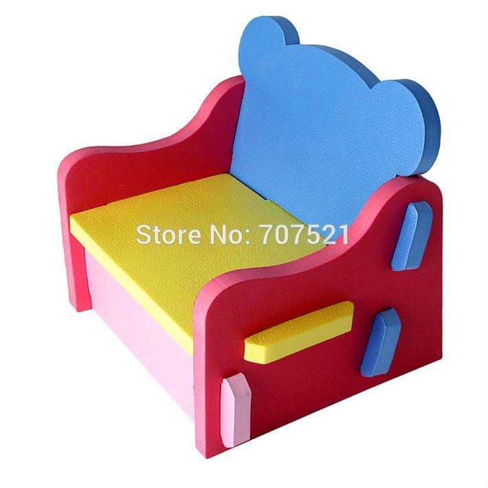 Elegant Quality Foam EVA Learning Chair Baby Plastic Kids Chair Kids Furniture  Portable Chair Children Dinette Stool
