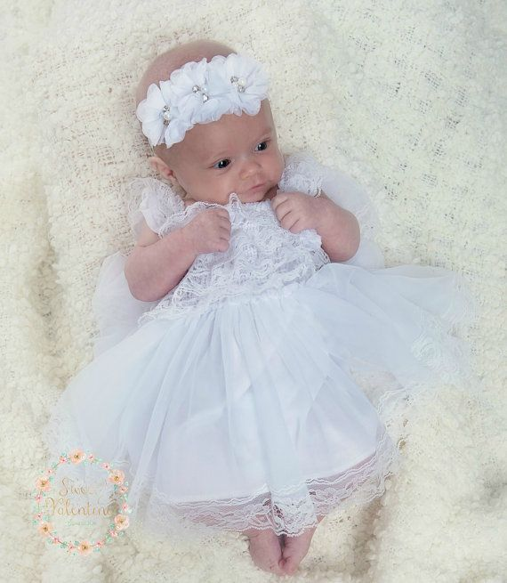 Awesome Junior Bridesmaid Dresses Flower Girl Dressbaptism Dress White Lace Baby