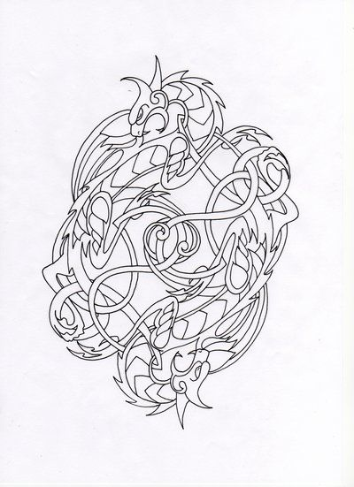 Celtic Dragon Drawings Celtic Dragons By Schawahr Celtic Artwork Celtic Dragon Celtic Art