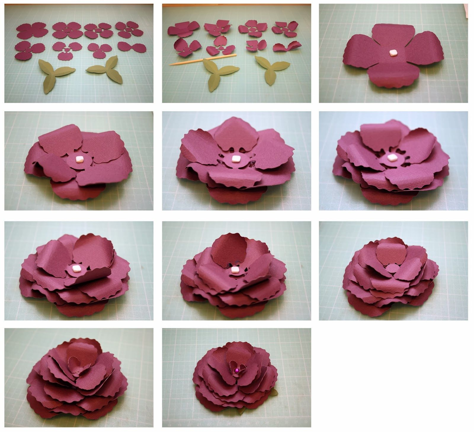 Begonia and gardenia 3d paper flowers tutorials pinterest 3d begonia and gardenia 3d paper flowers mightylinksfo