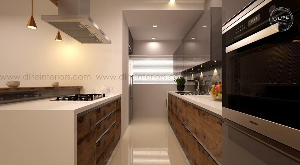 Modular Kitchen Design In Kerala In 2020 Parallel Kitchen Design