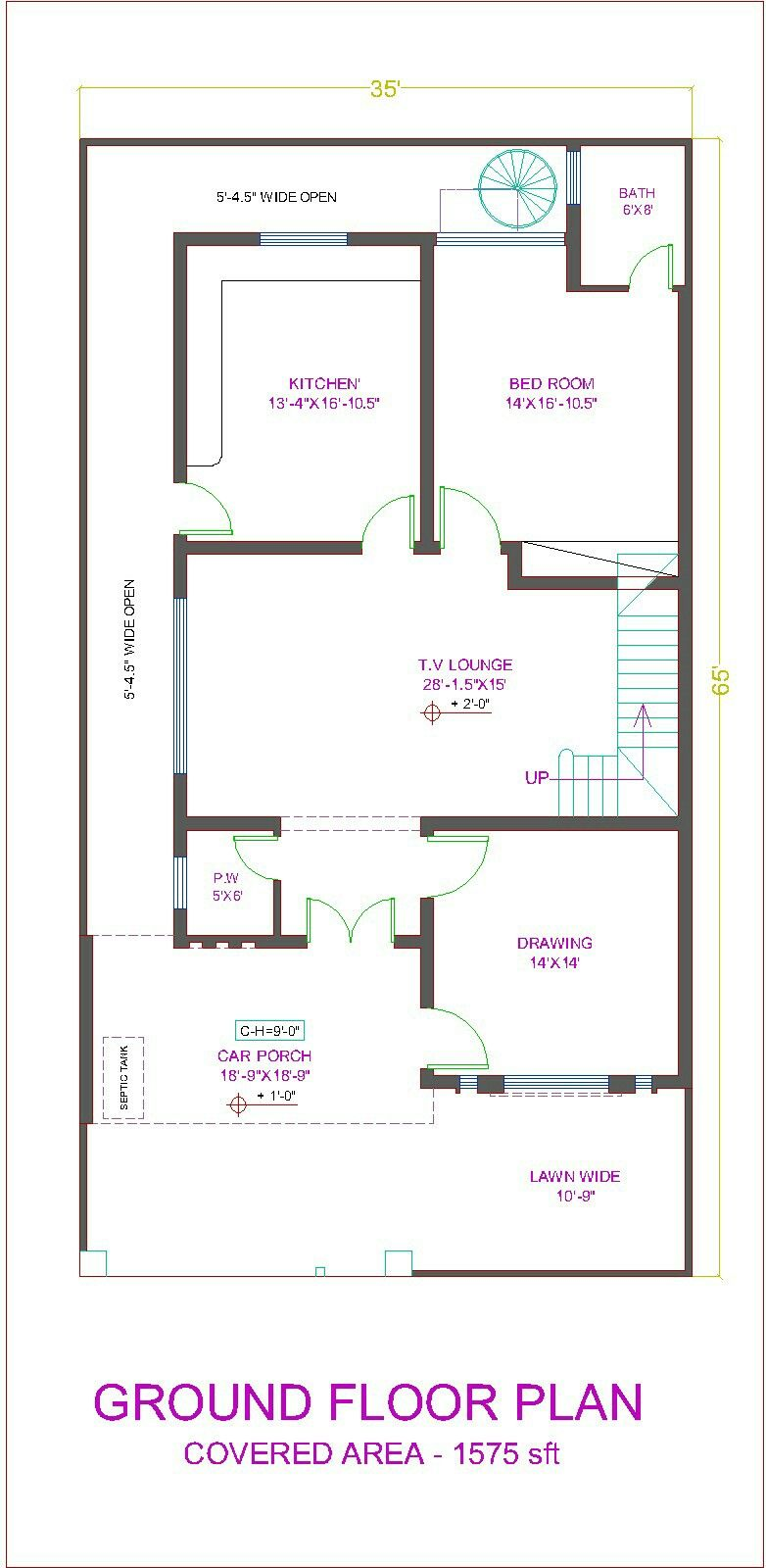 Pin By Manju Sri On House Layout House Map 10 Marla House Plan 2bhk House Plan