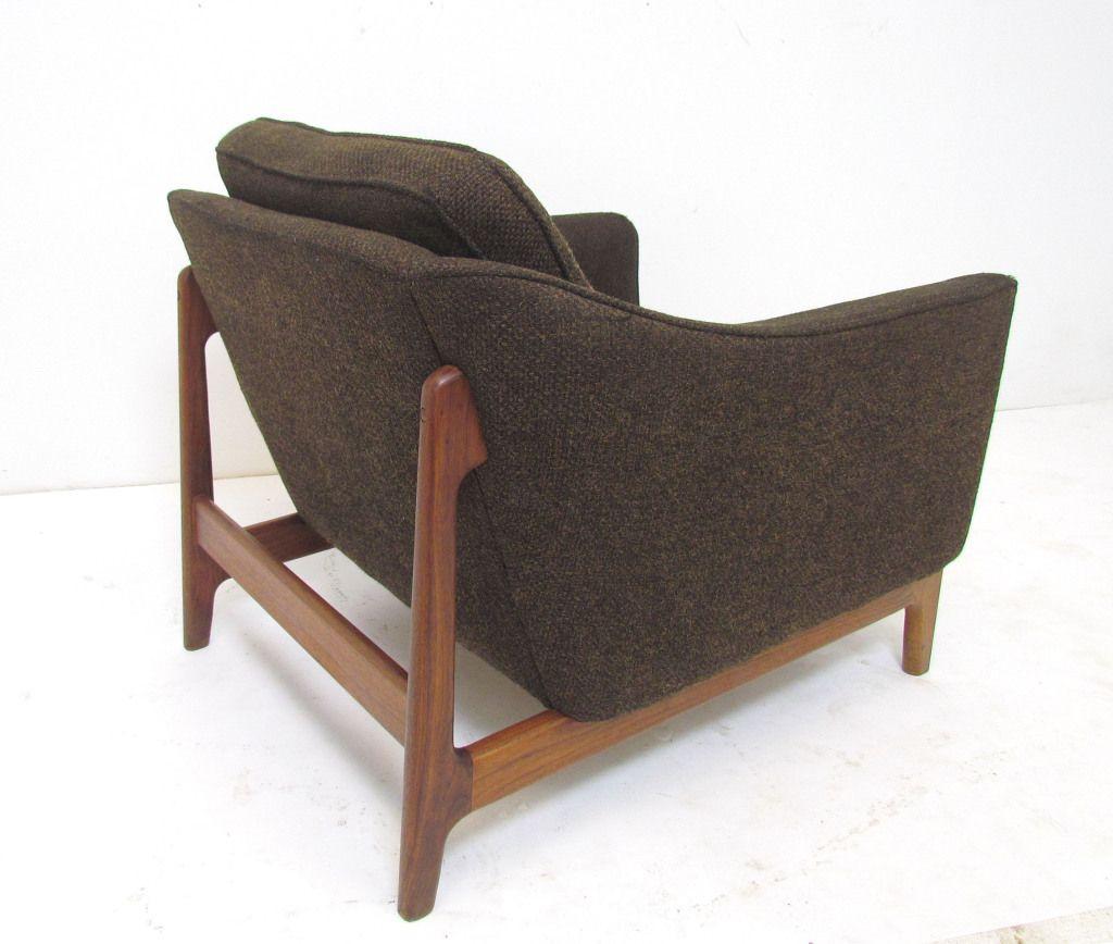 Folke Ohlsson Teak Lounge Chair For Dux 1960s Teak Lounge