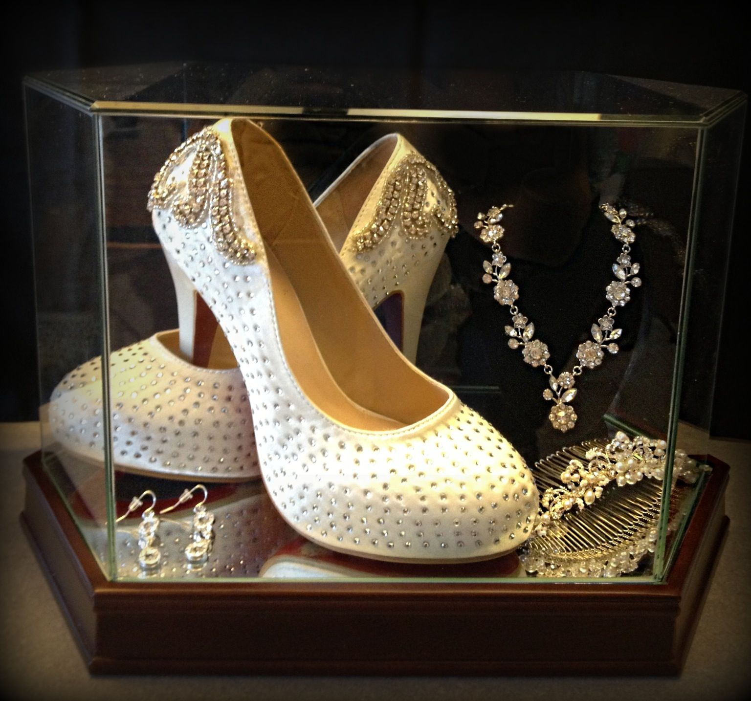 32c716d960c7 Showcase your wedding accessories  wedding  shoes  display