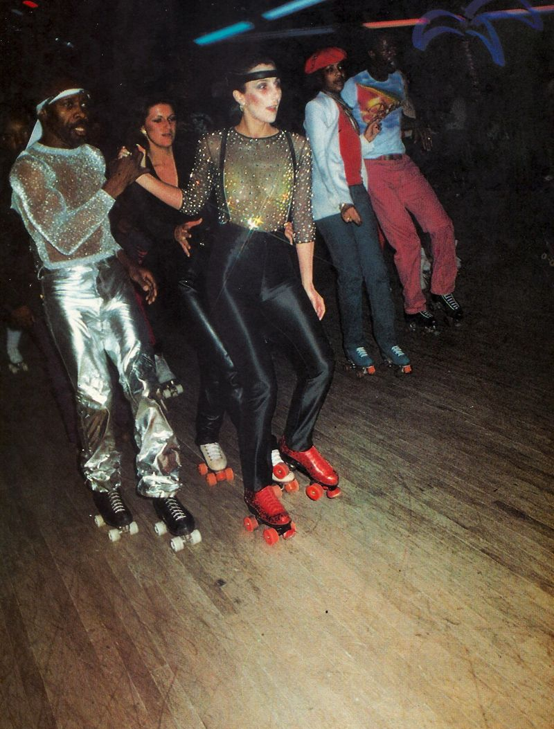 Cher at the roller disco 1978 | cool people u0026 cool things | Pinterest | Style Rollers and ...