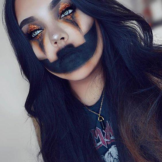 DIY Halloween Makeup Looks - KAinspired -   11 pumpkin makeup Halloween ideas