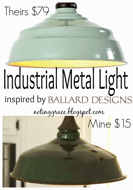 Farmhouse industrial metal light inspired by ballard designs ballard enamel light knock off noting grace arubaitofo Image collections