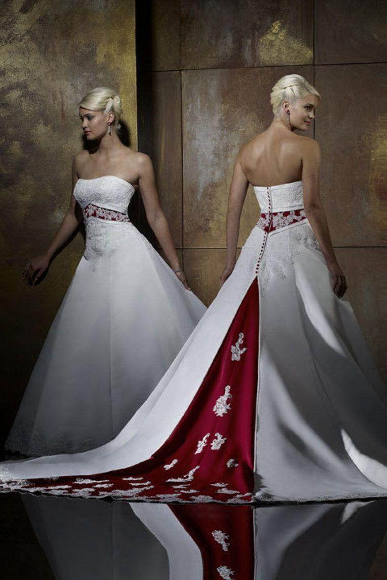 Cheap wedding dresses a line strapless court train satin