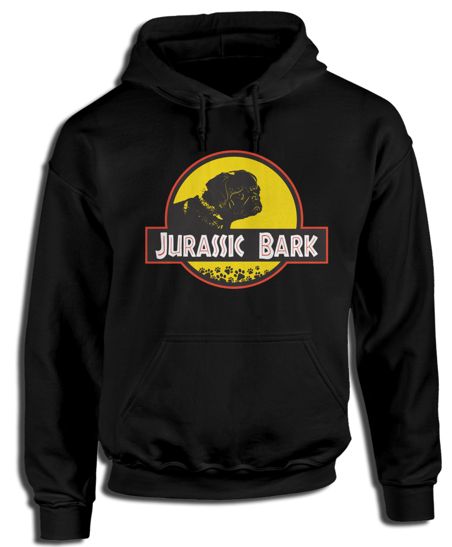Pug Jurassic Bark Hoodie