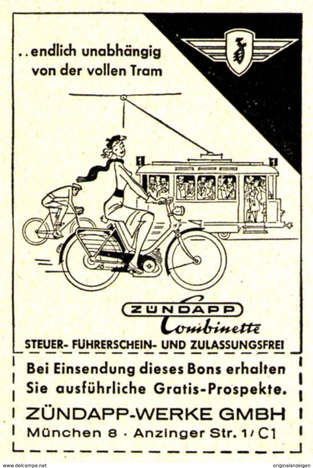Original Werbung Anzeige 1954 Zundapp Combinette Moped Ca 45