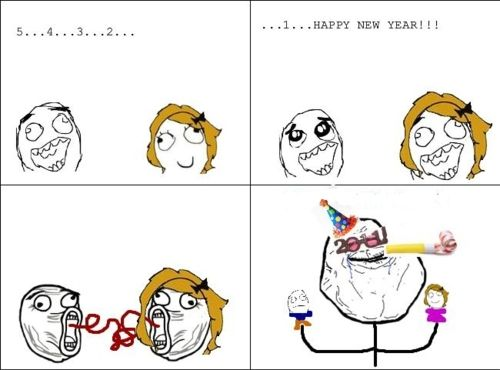 d1d04a6cf5c4c227d4b0d98605a47e37 forever alone meme happy new year story of my life,Happy Derp Meme