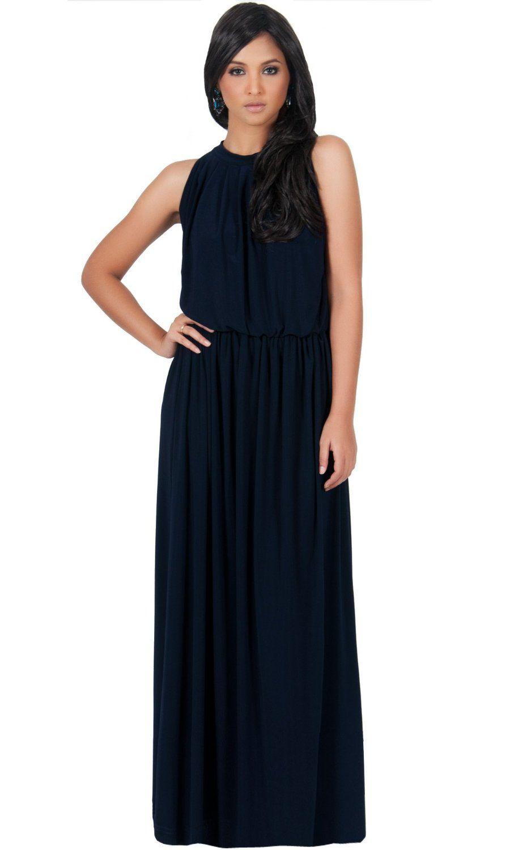 Plus size maxi dresses for summer wedding  Koh Koh Womenus Slimming Key Hole Sleeveless Maxi Dress
