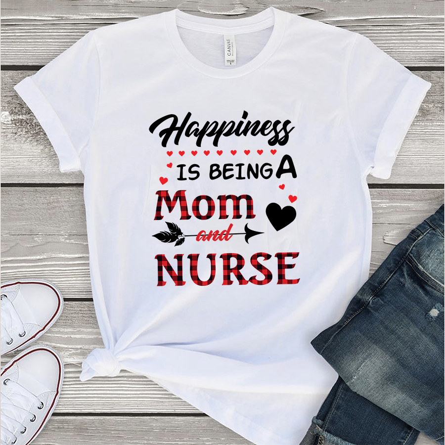 Download Happiness is being a mom and nurse SVG Files For ...