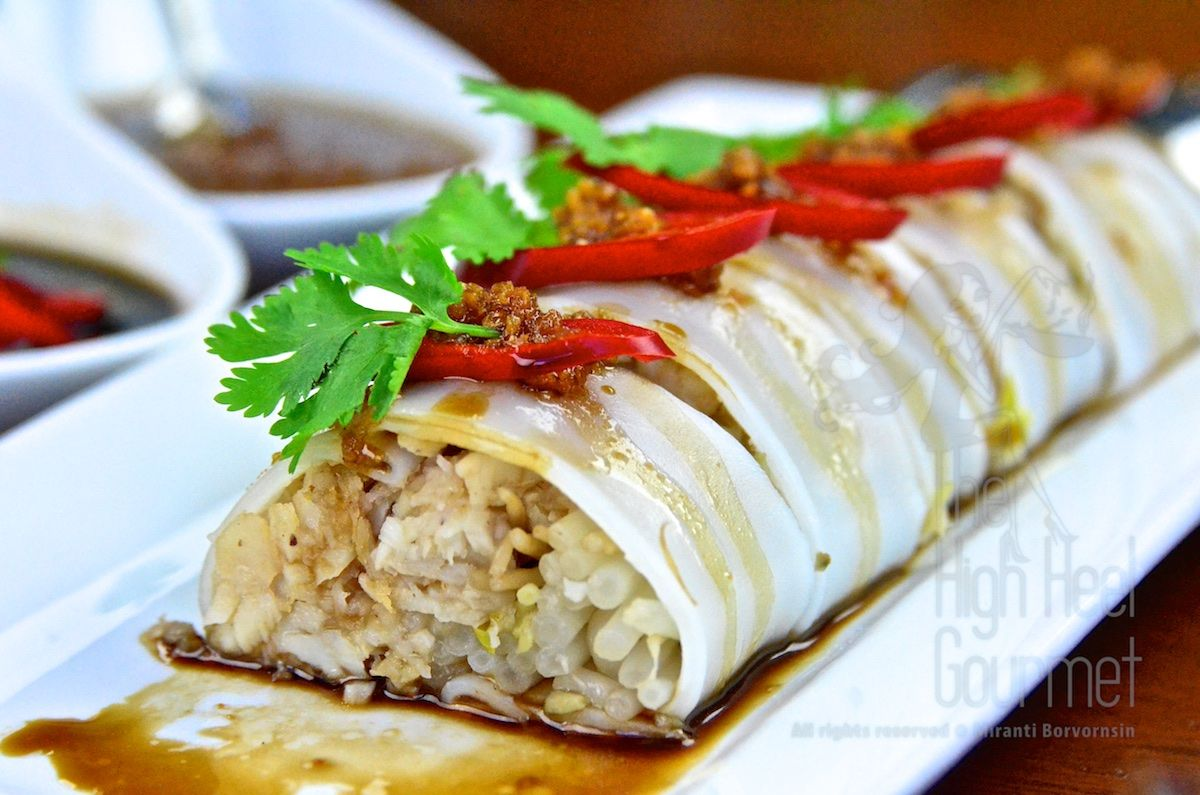 Thai Cannelloni Filled With Fish And Bean Sprout Guay Tiew Lhord Sai Pla Cannelloni Recipes Thai Street Food