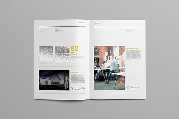 Studio Brochure Template  Layout    Brochure Template